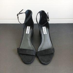 Steve Madden Black Strap Low Block Heels